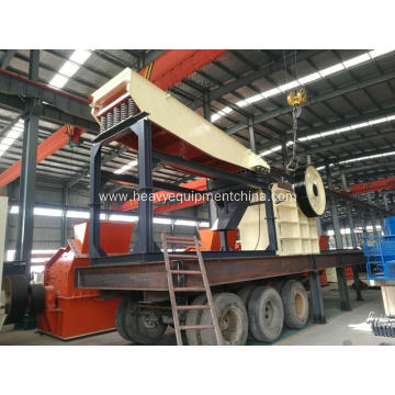 Mobile Rock Crushing Machine Movable Jaw Crusher